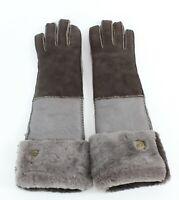 Ugg Taupe Brown Sheep Skin Long Gloves 723W