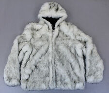 ASOS Men's Plus Hooded Faux Fur Bomber KB8 White Size 3XL NWT $127
