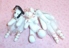 3 PIN LOT! country style COW, BEAR, and BUNNY so cute!  VINTAGE