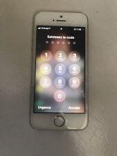 Apple Iphone 5S 16Go  Blanc Débloqué Assez Bon État Garanti 1 An Chez Happy Cash