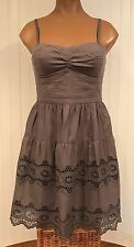 Super Cute American Eagle Outfitters Gray Eyelet Lace Sundress Size 2