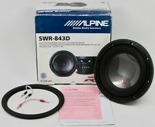 "NEW Alpine SWR-843D Type R 8"" High Performance Dual 4Ω Voice Coil Subwoofer NOS"