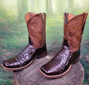 Men's Cowboy Western Boots Exotic Tony Lama Handmade Alligator Skin 12 D