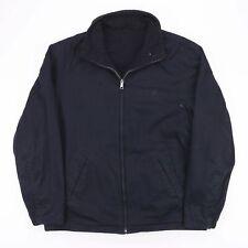Vintage NAUTICA Reversible Black Fleece Jacket Size Men's Medium