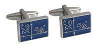 blaue Mathematik Manschettenknöpfe blau silbern  MM0744 ob