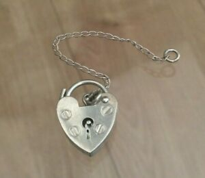 Silver Padlock with Safety Chain