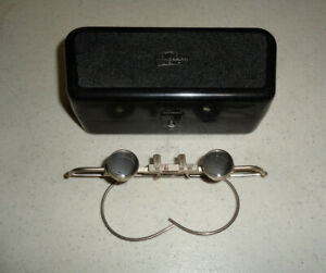 ~Antique Carl Zeiss Jena Jeweler Surgical Loupe/Glasses 2x-Magnifying ~w/ Case~