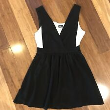 BNWT DOTTI Dress Size 12 Black With White Undershirt.  Pinafore. RRP $70