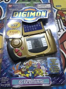 Rare special EDITION GOLD Digimon Digital Monsters Digivice D-Terminal BANDAI