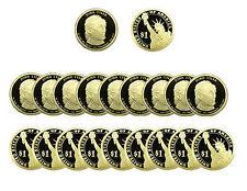 2009 S John Tyler Presidential Dollar Gem Deep Cameo PROOF 20 Coin ROLL