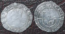 Hammered coin; Elizabeth I silver Penny; escallop mintmark; nice; FREE UK pp