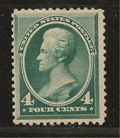 1883 SC #211 Mint XF - 4c green Jackson H  - CV $250.00 (42854)
