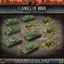 Flames of War Nuevo Y En Caja Nikolay'S Ejército De Pared De Acero trato SUAB 09