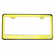 304 Gold Chrome License Plate Frame StainlessSteel Silver Cadillac Laser Etched