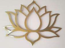 "Lotus Flower Metal Art, Black, Wall Decor, 31"" wide and 23"" tall, Gold"