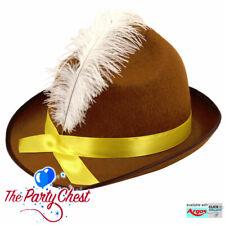 BAVARIAN OKTOBERFEST HATS with FEATHERS - Beer Fest Fancy Dress Accessories
