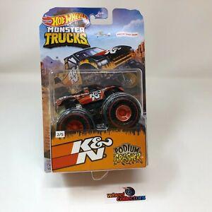 Podium Crasher K&N Redlines * 2020 Hot Wheels Monster Trucks