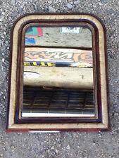 Ancien miroir cadre bois et platre peint vintage années 1950 déco bistrot