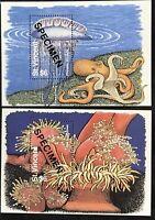St. Vincent #2180-2181 MNH S/S Specimen CV$26.00 Octopus Jellyfish Anemone