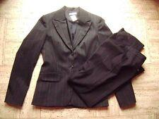 @PROMOD@ élégant pantalon de tailleur noir à rayures fines gr. 36 SIZE S UK 10