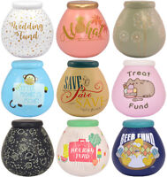 Pot of Dreams Savings Bank Money Box Choice of Designs Available Cash Save Coins