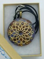 Tanzanite Citrine Sacred Geometry Crown Chakra Orgone Pendant for EMF Protection