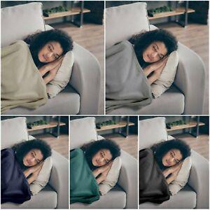 Luxury Flannel Throw Microfiber Cosy Blanket Bed Sofa Cuddly Warm Blanket