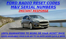 FORD RADIO CODE M&V SERIAL 4000-4500-5000-6000 RDS FIESTA FOCUS C MAX K/A  ETC