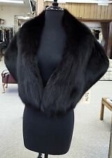 Black dyed Fox Fur Large Cape Collar