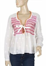 155467 NWD Odd Molly Remix Embroidered Cotton White Blouse Top X Small XS