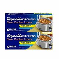 Reynolds Kitchens Premium Slow Cooker Liners - 13 x 21 Inch, 2 Packages of 6 Lin