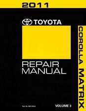 2011 Toyota Corolla Matrix Shop Service Repair Manual Volume 3 Only