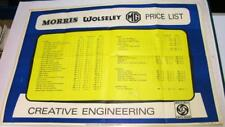 More details for british leyland morris wolseley mg vdp showroom poster-style price list 1969 on