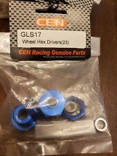 Cen racing gls17 23mm aluminium hub bolt on type wheel hex drivers 23 mm cnc