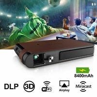 3D WIFI Heimkino Projektor HD DLP Tragbarer Mini Beamer Präsentation Movie 1080P