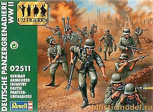 1:72 20 mm Plastic Late War WWII German Infantry Grenadiers Revell