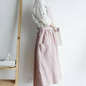 Fabric Apron Korean Casual Craft Cooking Coffee House Shop Painters Workwear MA