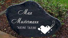 Schwarz Gedenkplatte Grabstein Gedenktafel Gedenkstein Urne Tiergrab Motiv Herz