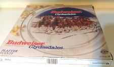 """Budweiser Clydesdale Horses 13"""" Glass Serving Plate"""