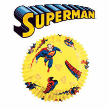 50 Pack Wilton SUPERMAN Birthday Baking Cups Cupcake Paper Cases Fairy Cake