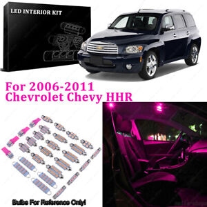 9 x Pink/Purple LED Interior Light Package For 2006-2011 Chevrolet Chevy HHR