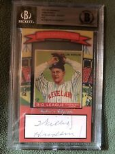 2017 HISTORIC AUTOGRAPHS ORIGINALS 1930s WILLIS HUDLIN 1933 GOUDEY CUT AUTO RARE