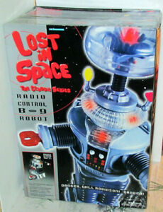 1998 LOST IN SPACE 2 FT RADIO CONTROL R/C B-9 TALKING ROBOT LIGHTS SOUNDS SEALED