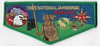 Boy Scout OA 133 Ma-Nu Lodge 2005 National Jamboree Green Border Flap
