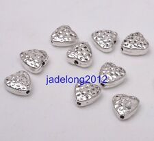 20pcs Tibetan Silver Charms Double Sided Heart Spacer Beads 8x8mm Jewelry C3090