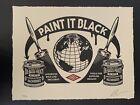 ✅ Obey Giant Paint It Black Shepard Fairey Art Print Letterpress Signed LE 450 ✅