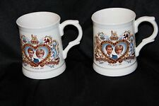 (2)  Prince Charles and Princess Diana Wedding Celebration Mug July 29, 1981
