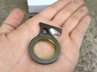 Mini Outdoor Finger Ring Cutting Knife Tool Keychain Survival EDC Camping