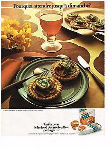 PUBLICITE  1971   TART'EXPRESS  fond de tarte feuilleté
