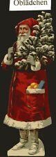 # GLANZBILDER #  Weihnachtsmann 2 ca. 1940, 15 cm, dickes Papier schön geprägt